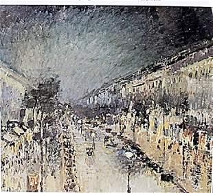 Boulevard Montmartre Night Effect Camille Pissarro