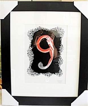 Framed Lithograph by Erte
