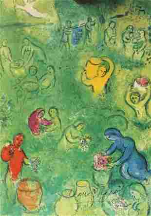 Marc Chagall Signed Lithograph 38