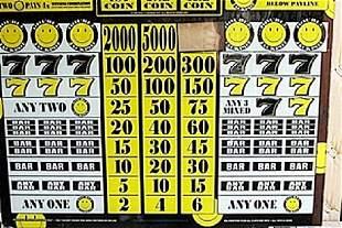"Vintage Collectible Casino Slot Machine Glass ""Double"