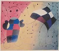 Joan Miro Boy With Kite