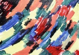 New York - Else Alfelt - Oil On Paper