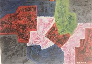 Composition VII - Serge Poliakof - Oil On Paper