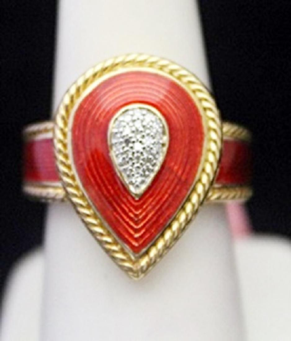 Beautiful 14kt over Silver Ring with Ruby Accent
