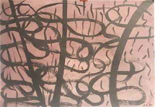 Entrance Lee Krassner Oil On Paper