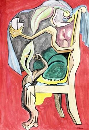 The Chair Andre Masson Watercolor