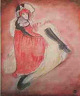Henri de ToulouseLautrec The Dancer