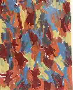 Red And Blue Jasper Johns Oil On Paper