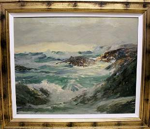 The Breaker - Robert Wood - Oil On Canvas