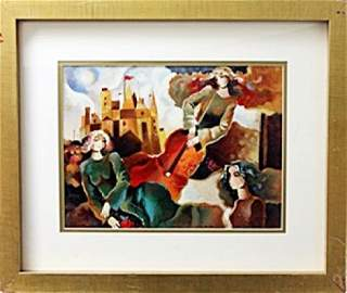 """authentic serigraph """"Musical Flight"""" after Galina"""