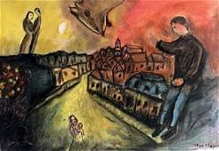 Marc Chagall - Pastel On Paper