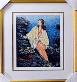"""authentic serigraph """"Beauty By the Seaside"""" after"""