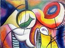 Improvisation 1922'  Oil Painting  Arshile Gorky