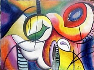 Improvisation 1922 Oil Painting Arshile Gorky