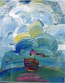 Sailboat Painting - Peter Max - Lithograph