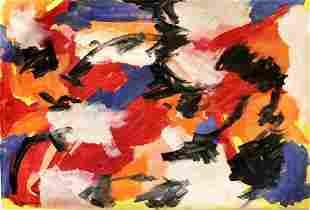 Willem De Kooning Oil On Paper