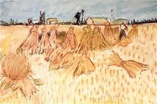 Camille Pissarro Pastel On Paper