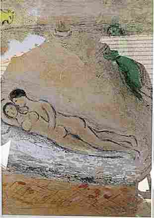 The Wedding Night Marc Chagall Lithograph
