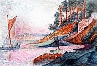 Pastel Drawing M Vlaminck