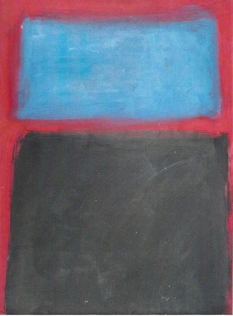 Blue And Black - Mark Rothko - Oil On Paper