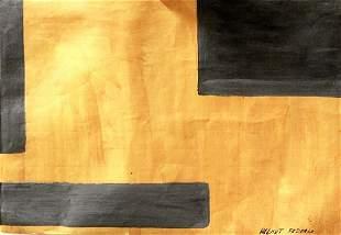 Composition Helmut Federle Oil On Paper