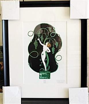 Framed Lithograph Emerald by Erte