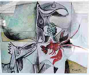 Still Life With Dog Pablo Picasso Lithograph