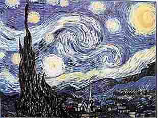 Starry Night Vincent Van Gogh Lithograph