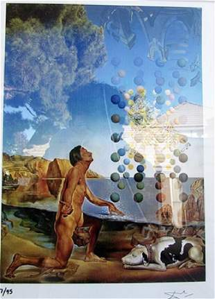 Dali Nude Contemplating before the Five Regular Bodies