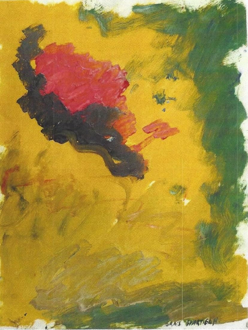 Composition - Grace Hartigan - Oil On Paper