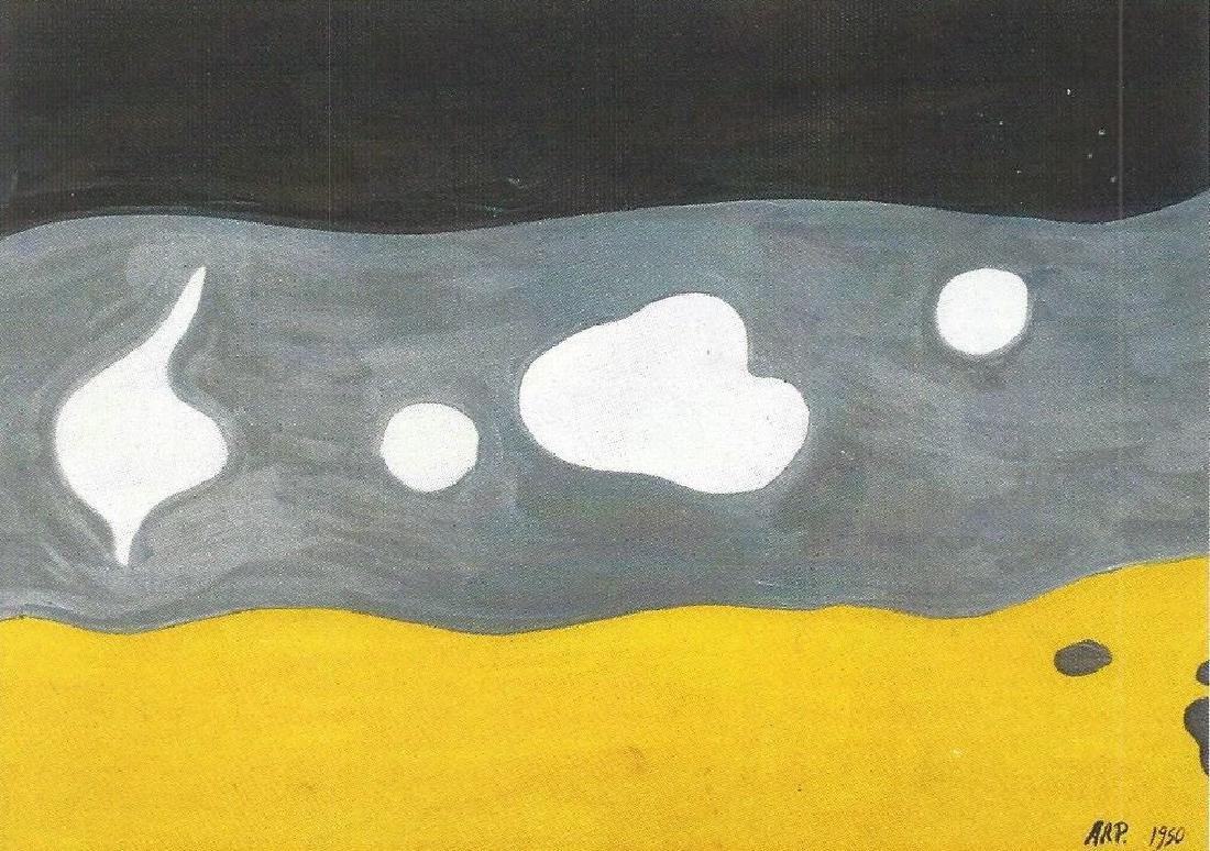 Composition - Jean Hans Arp - Oil On Paper