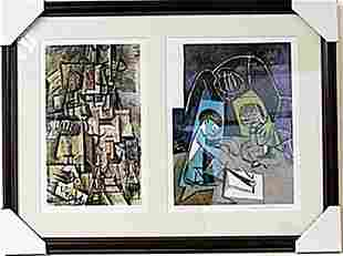 Framed 2in1 Picasso Lithographs 128EEK