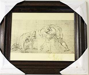 Framed Engraving 62EEK