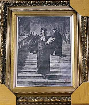 Framed Honor DaumierThe Grand Staircase of the Palace