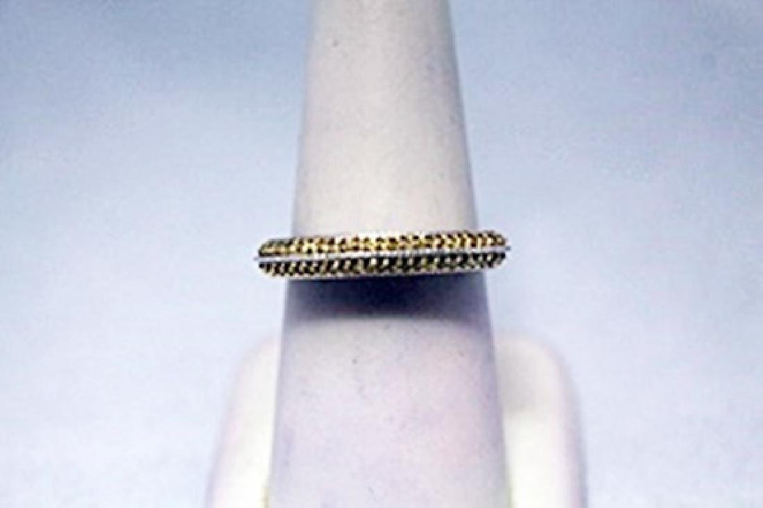 Exquisite Yellow Diamonds Silver Ring