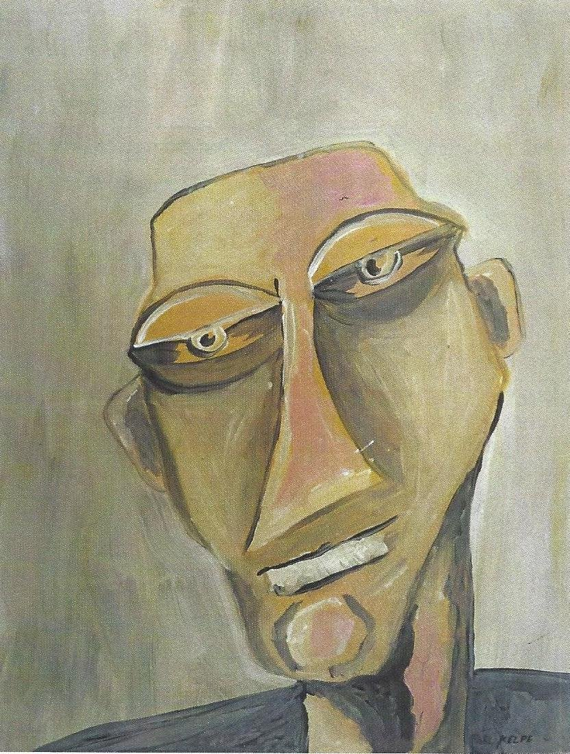 Mr. Andrew - Paul Kelpe - Oil On Paper