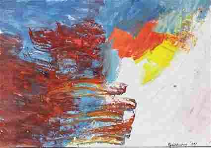 Infinity - Robert Rauschenberg - Oil On Paper