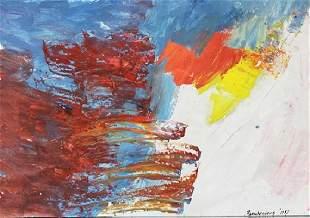 Infinity Robert Rauschenberg Oil On Paper