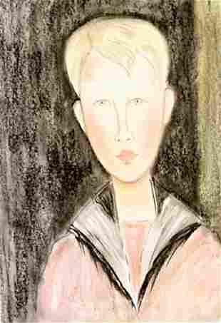 Portrait Of Jean Pierre Amadeo Modigliani Pastel On