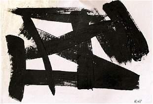 Franz Kline Oil On Paper