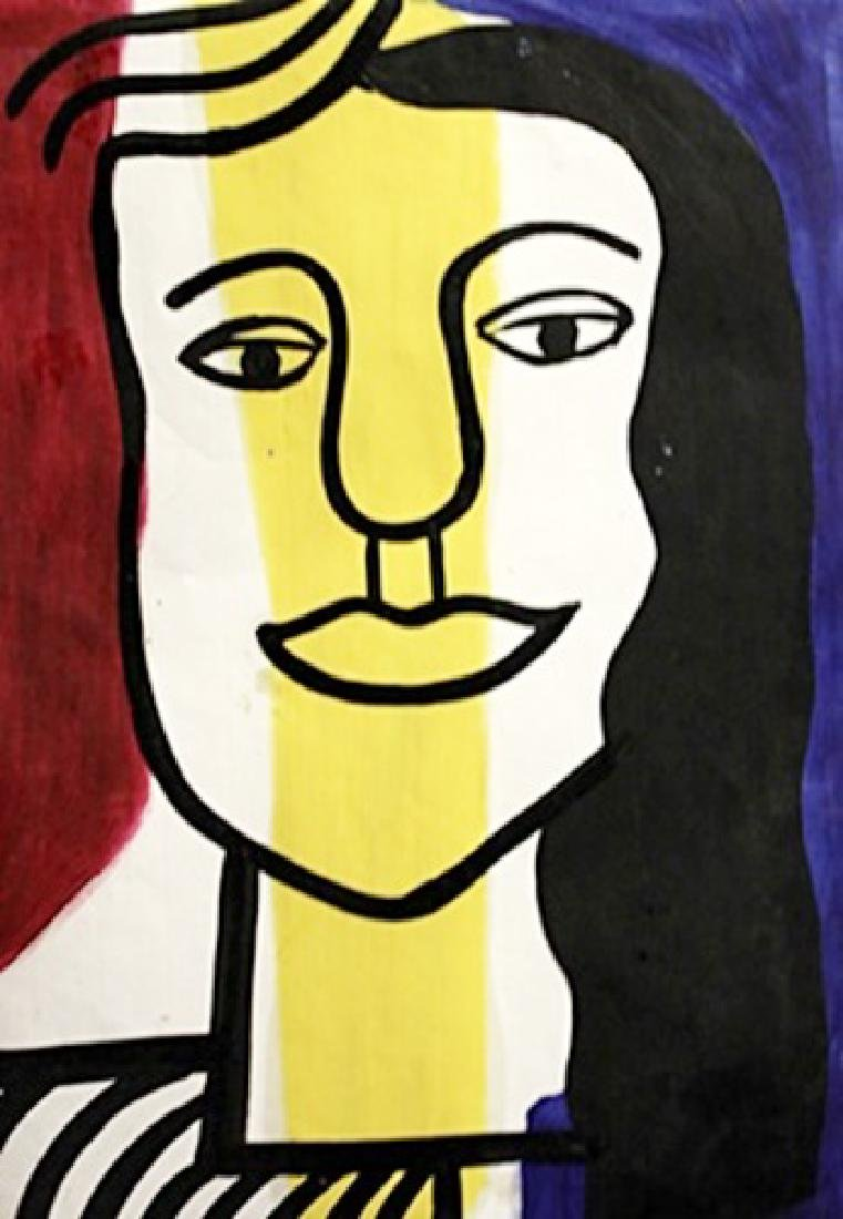 Fernand Leger - Oil On Paper