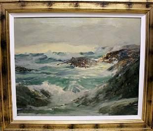 The Breaker Robert Wood Oil On Canvas
