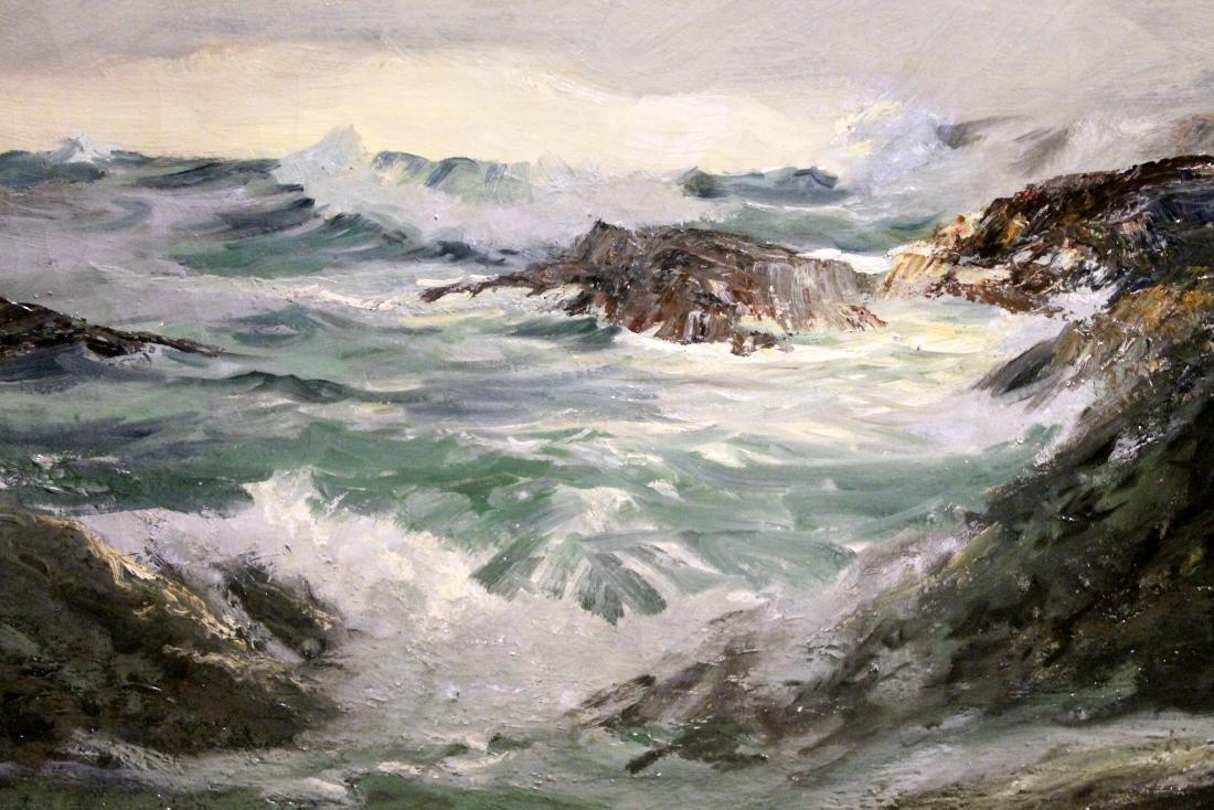 The Breaker - Robert Wood - Oil On Canvas - 2
