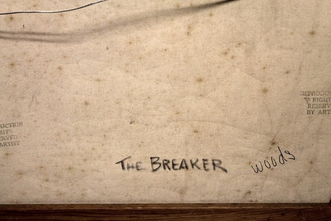 The Breaker - Robert Wood - Oil On Canvas - 3