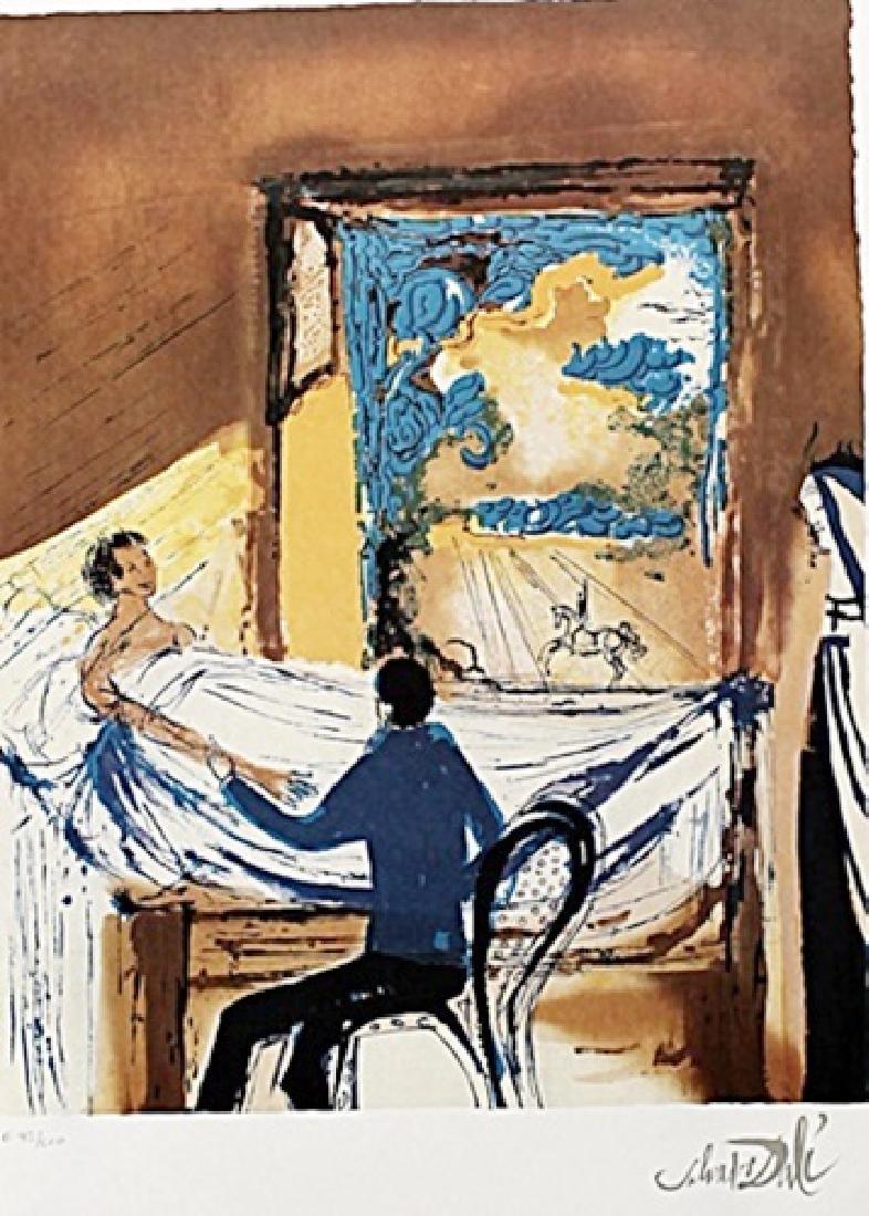 La lutte contre le mal - Salvador Dali - Lithograph