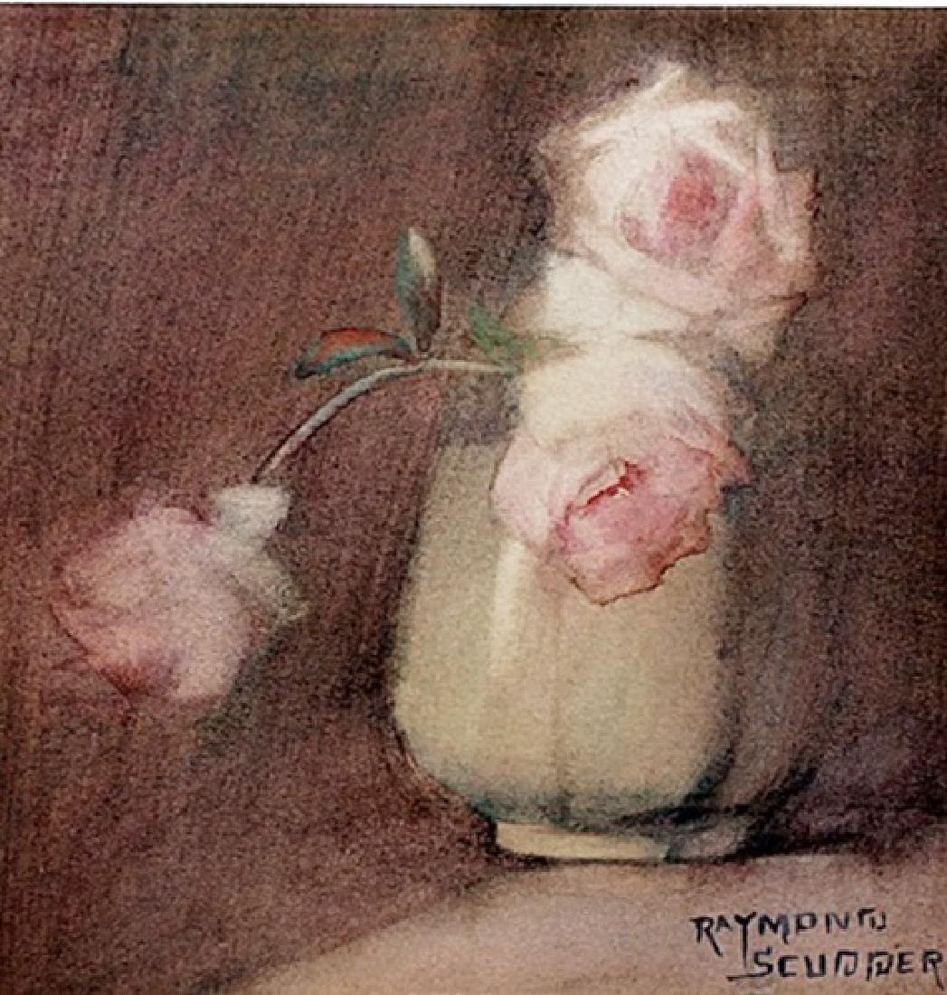 Flower Vase - Raymond Scudder - Lithograph