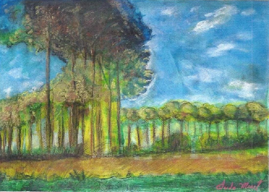 Argenteuil - Claude Monet - Pastel On Paper