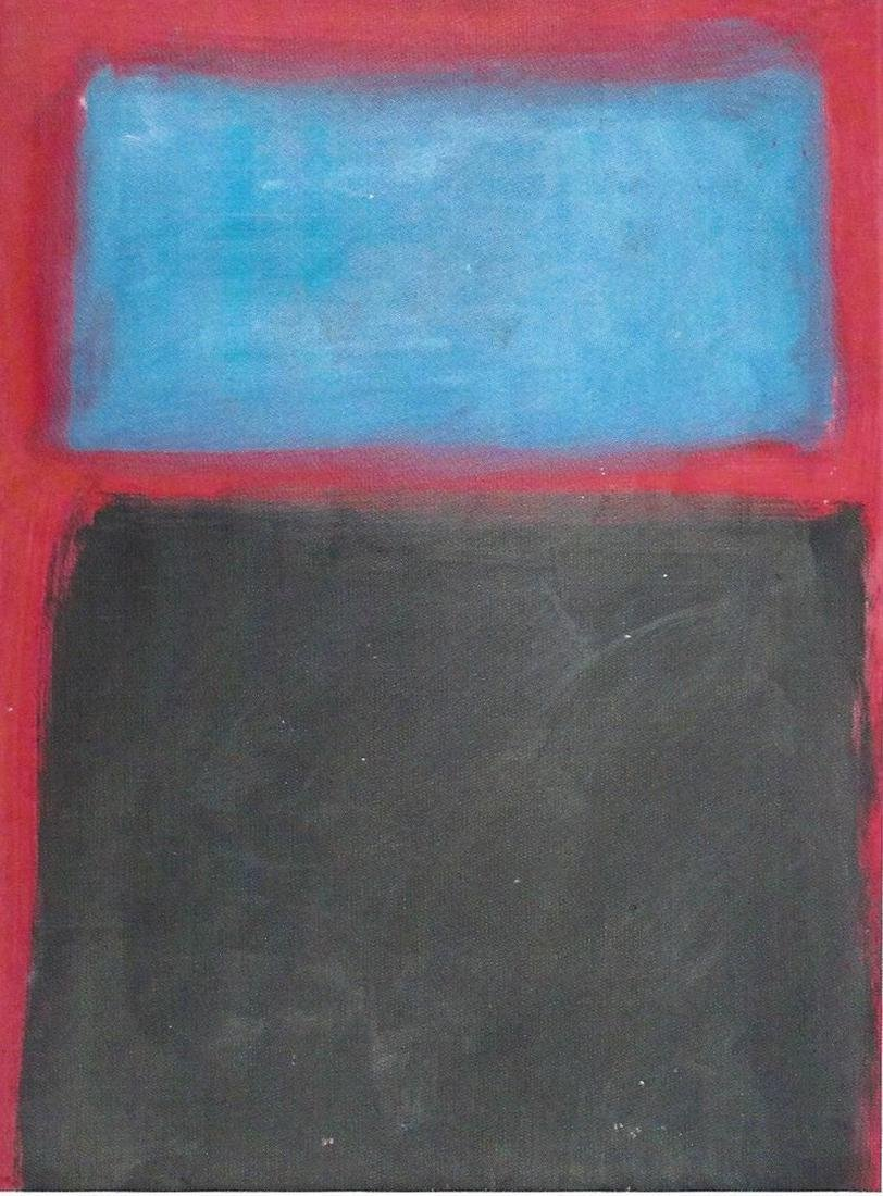 Blue And Black - Mark Rothko - Oil On Paper