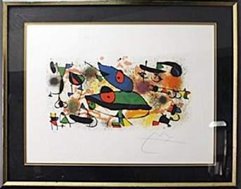 Framed Lithograph after Joan Miro