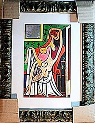 Picasso Limited Edition Nude In An Armchair